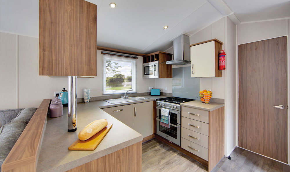 Willerby Avonmore 2018 holiday home kitchen