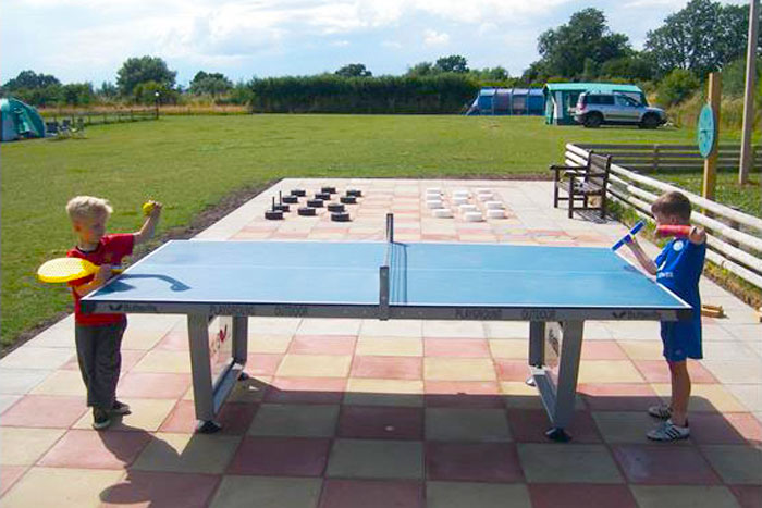 Outdoor table tennis at York Meadows