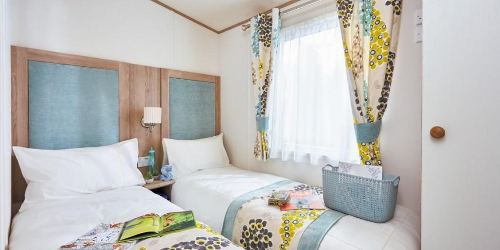 Twin bedroom in ABI St David 2018 holiday home