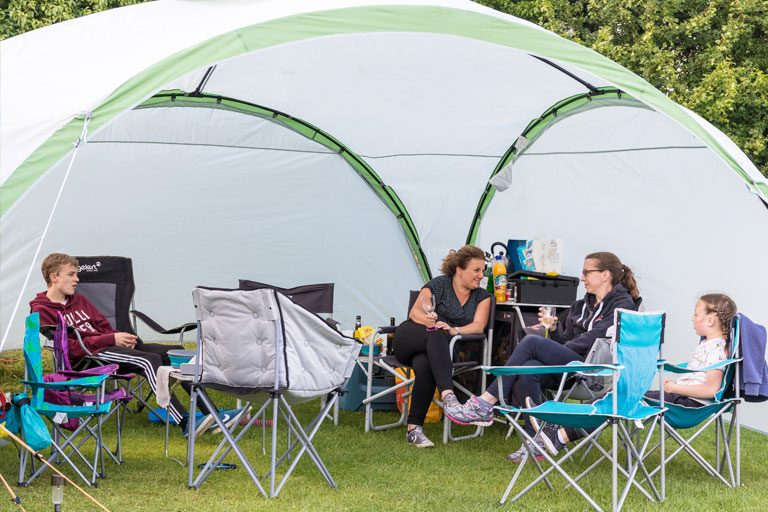 people enjoying camping near York at York Meadows