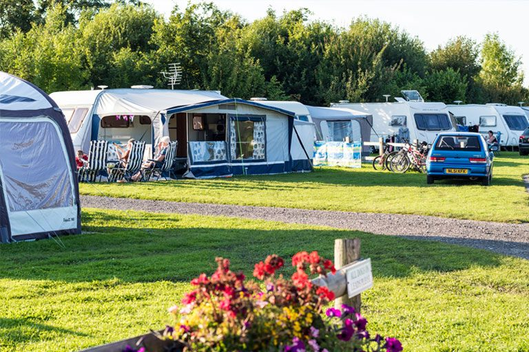 touring caravan pitches at York Meadows