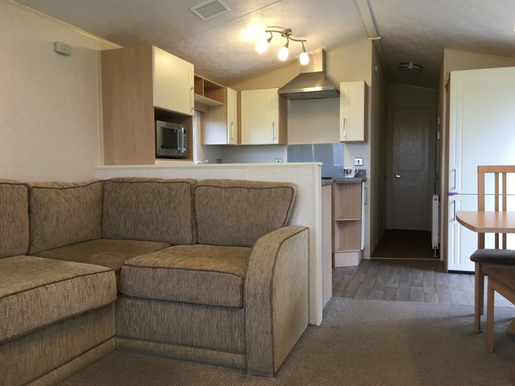 seating and kitchen in the Willerby Sierra