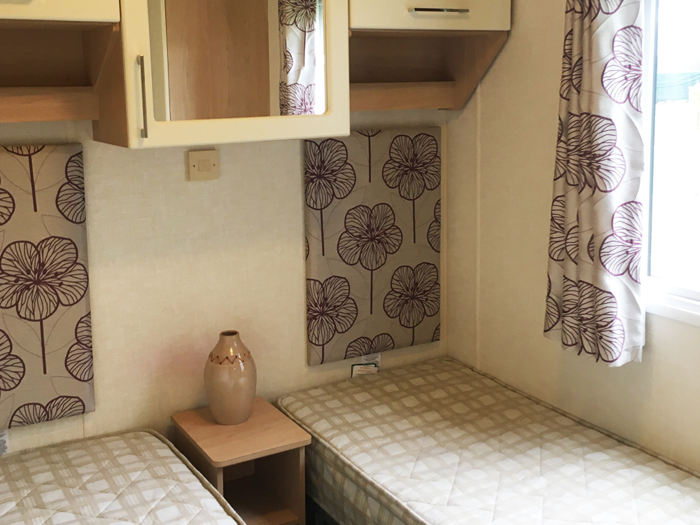 twin room in a Willerby Sierra 2012 holiday home