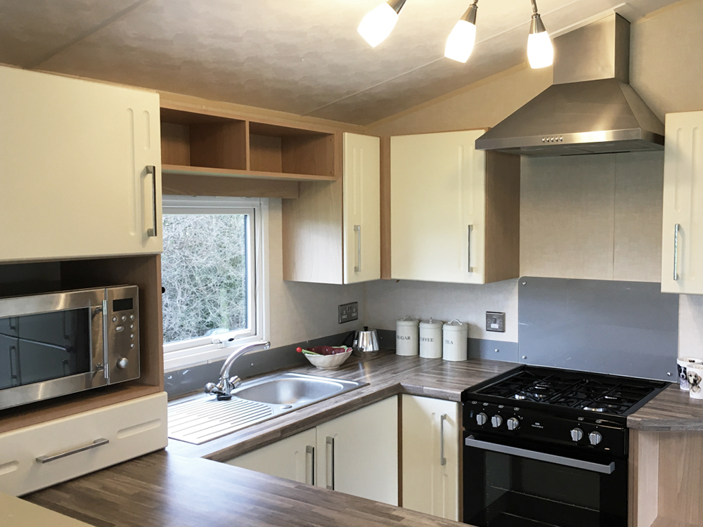 kitchen in a 2012 Willerby Sierra holiday home for sale
